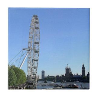Tile with London Eye Ferris Wheel