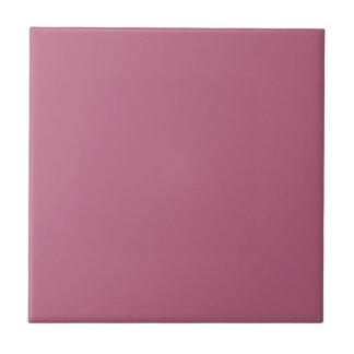 Tile with Mauve Pink Background