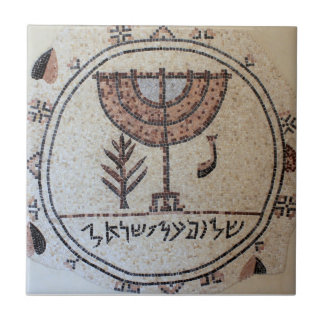 Tile with mosaic of Israel