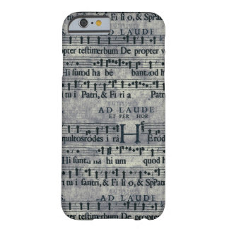 Tileable Grunge Music Score Pattern Barely There iPhone 6 Case