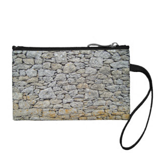 Tileable stone wall background texture, abstract p coin purse