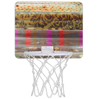 Tileable Wood With Patterns Mini Basketball Hoop