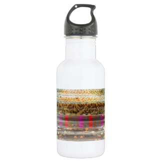 Tileable Wood With Patterns Stainless Steel Water Bottle