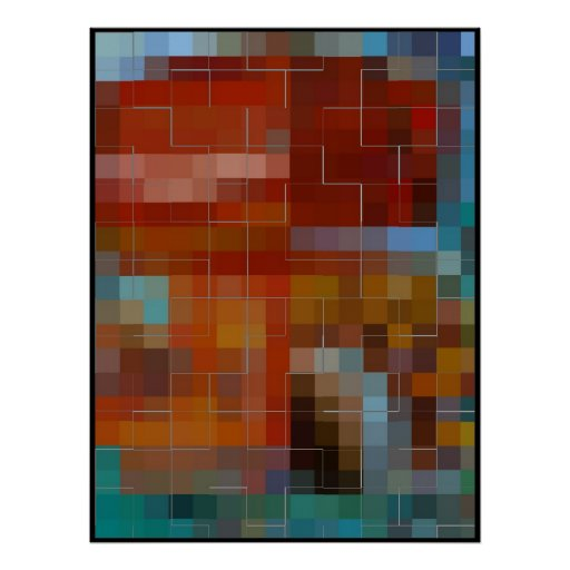 TILED - ABSTRACT POSTER