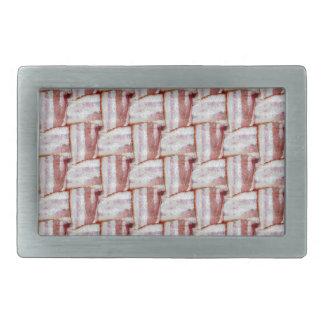 Tiled Bacon Weave Pattern Rectangular Belt Buckles