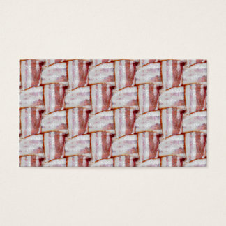 Tiled Bacon Weave Pattern Business Card