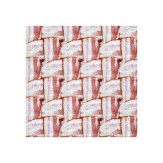 Tiled Bacon Weave Pattern Gallery Wrapped Canvas