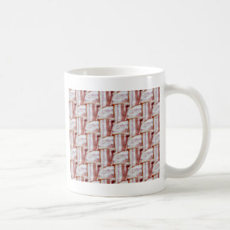 Tiled Bacon Weave Pattern Coffee Mug