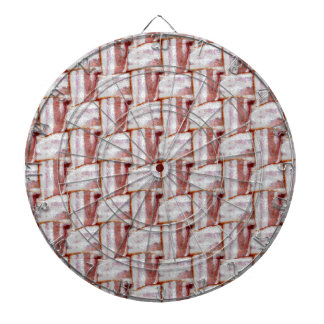 Tiled Bacon Weave Pattern Dartboard With Darts