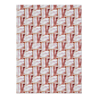 Tiled Bacon Weave Pattern 5.5x7.5 Paper Invitation Card