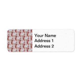 Tiled Bacon Weave Pattern Return Address Label