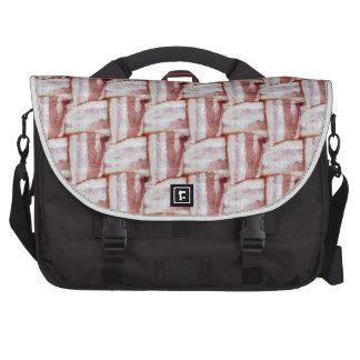 Tiled Bacon Weave Pattern Laptop Bags