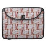 Tiled Bacon Weave Pattern MacBook Pro Sleeves