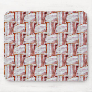 Tiled Bacon Weave Pattern Mouse Pad
