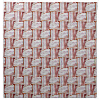 Tiled Bacon Weave Pattern Printed Napkins