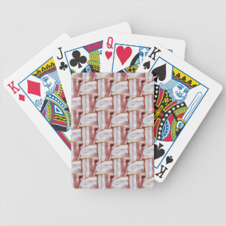 Tiled Bacon Weave Pattern Bicycle Playing Cards