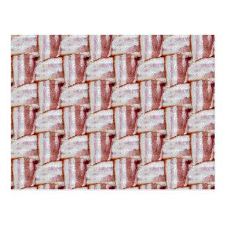 Tiled Bacon Weave Pattern Postcard