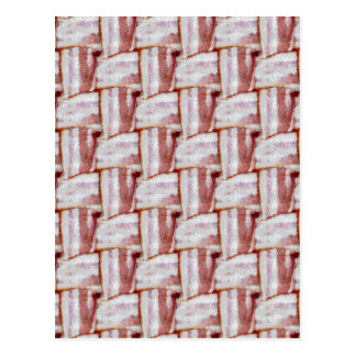 Tiled Bacon Weave Pattern Postcard