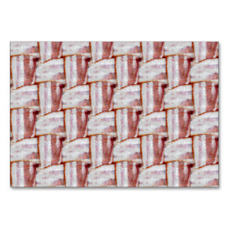 Tiled Bacon Weave Pattern Table Card