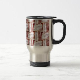 Tiled Bacon Weave Pattern Travel Mug