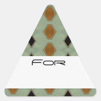 Tiled Black & Gold Diamonds Patterned Gift Tag