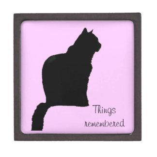 Tiled Box - Black cat silhouette Premium Gift Boxes
