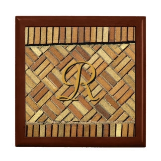 Tiled Box - Brick Wall with Monogram