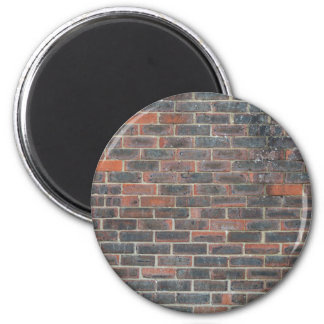 Tiled Brick Wall Urban Texture Pattern 2 Inch Round Magnet