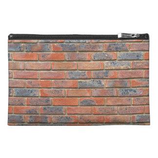 Tiled Brick Wall Urban Texture Pattern Travel Accessory Bag