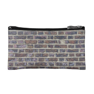 Tiled Brick Wall Urban Texture Pattern Makeup Bag