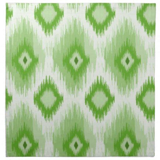 Tiled Chic Green iKat Cloth Napkin