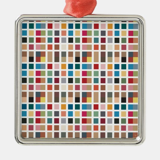 Tiled Chic Hipster Metal Ornament