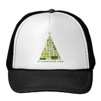 Tiled Christmas Tree Trucker Hats