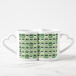 Tiled cows pattern couples coffee mug