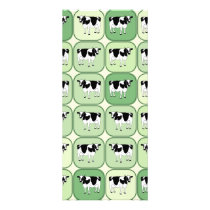 Tiled cows pattern rack card
