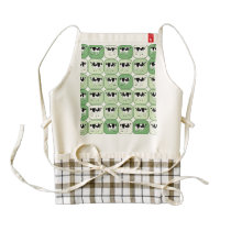 Tiled cows pattern zazzle HEART apron