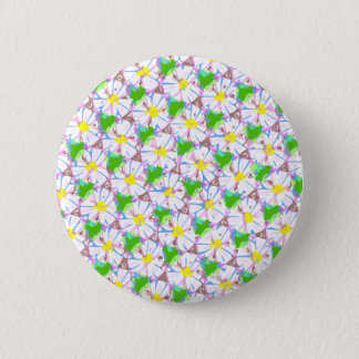 tiled daisies button