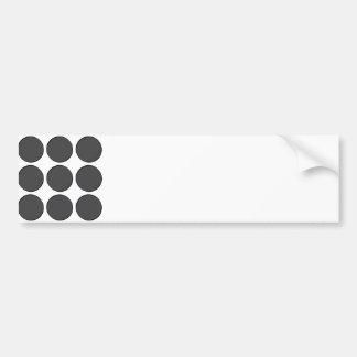 Tiled DarkGrey Dots Car Bumper Sticker