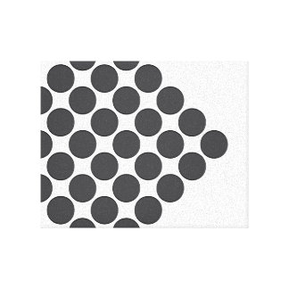 Tiled DarkGrey Dots Stretched Canvas Prints
