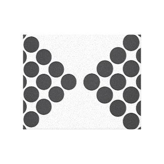 Tiled DarkGrey Dots Canvas Print