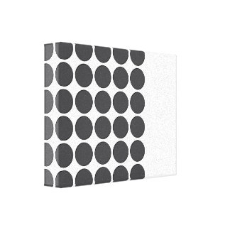 Tiled DarkGrey Dots Gallery Wrapped Canvas