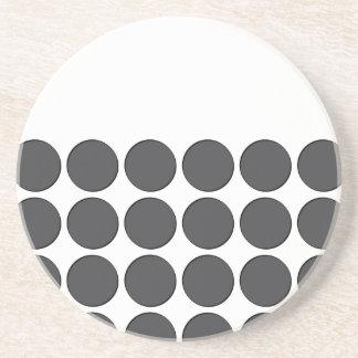 Tiled DarkGrey Dots Coaster