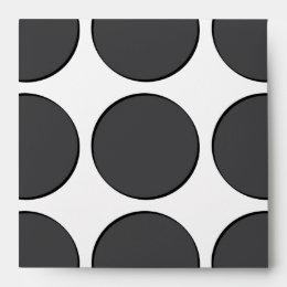 Tiled DarkGrey Dots Envelope