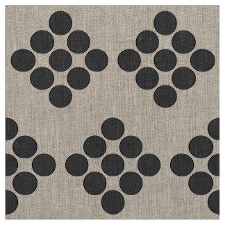 Tiled DarkGrey Dots Fabric
