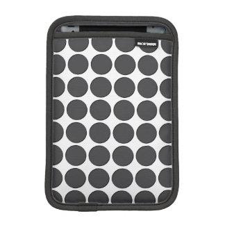 Tiled DarkGrey Dots iPad Mini Sleeves