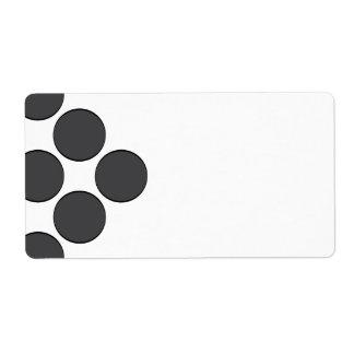 Tiled DarkGrey Dots Label