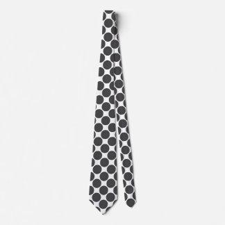 Tiled DarkGrey Dots Neck Tie
