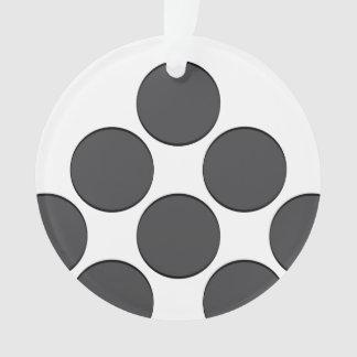 Tiled DarkGrey Dots Ornament