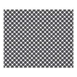 Tiled DarkGrey Dots Photographic Print