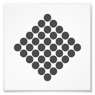 Tiled DarkGrey Dots Photograph